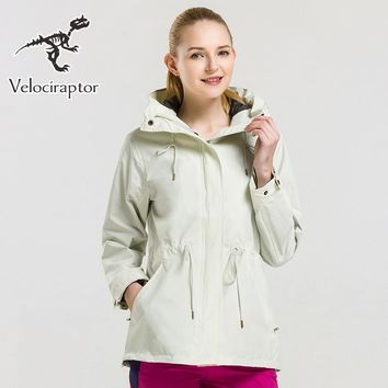Velraptor Women's Hiking Jacket Waterproof Outdoor Windbreaker Warm Ski Camping Multifunction Fleece Coat Hunting