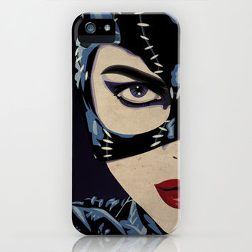 Catwoman iPhone & iPod Case by Cassidy Dawn