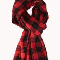 Grunge Plaid Flannel Scarf