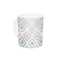 "KESS Original ""Baby Moroccan"" Blue Pink Ceramic Coffee Mug"