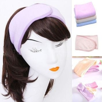 ESBONJ 2017 New Pink Spa Bath Shower Make Up Wash Face Cosmetic Headband Hair Band Accessories Sale