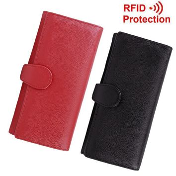 fancytrader best rfid blocking wallet trifold scan proof security credit card protect wallet money clip for women