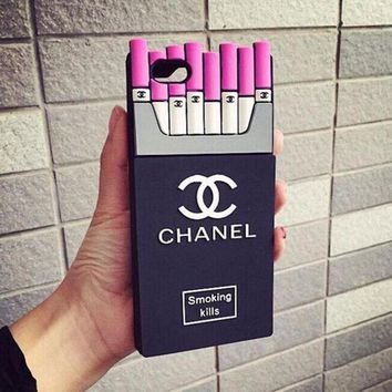 onetow One-nice? Perfect Chanel Fashion Personality Cigarette iPhone Phone Cover Case For iphone 6 6s 6plus 6s-plus 7 7plus