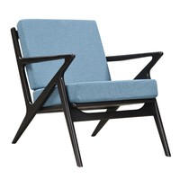 Jet Accent Chair BABY BLUE - BLACK