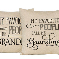 Personalized Gift, Mothers Day Gift, Fathers Day Gift, Grandparents Gift, Grandpa, Grandma, Custom Pillow, Throw Pillow Cover