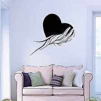 Wall Sticker Hand Palm Heart Very Romantic Decor for Bedroom Unique Gift z1414