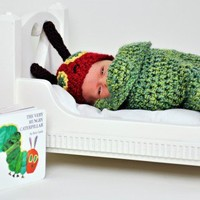 PDF Very Hungry Caterpillar Newborn Cocoon Set Crochet Pattern | TinyTiptoesBoutique - Children's on ArtFire