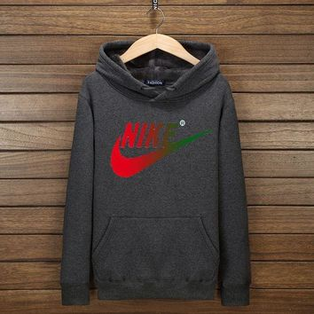DCCKB62 NIKE Fashion Print Cotton Long Sleeve Sweater Pullover Hoodie Sweatshirt Dark Grey G-YSSA-Z