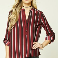 Striped Popover Blouse