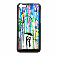Love Song Romantic In The Rain Paint iPhone 5c Case