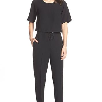Women's French Connection 'Arrow' Ankle Crepe Jumpsuit,