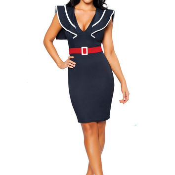 Dark Blue Sailor Captain Dress