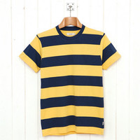 Howies Block Stripe T (Navy Yellow) from Oi Polloi