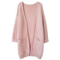 LONG KNIT CARDIGAN (4 colors)