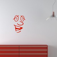 Wall Vinyl Decal Sticker Art Design Surprised Face Room Nice Picture Decor Hall Wall Chu381