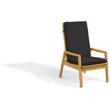 Oxford Garden Siena Reclining Armchair Natural Shorea Black Onyx Polyester