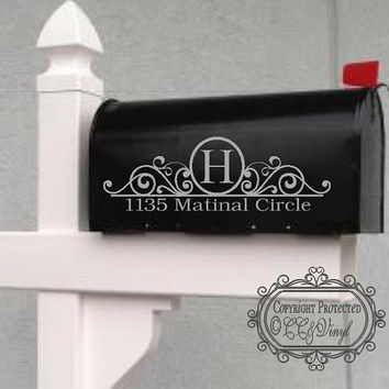 Flourish Personalized Mailbox Decal