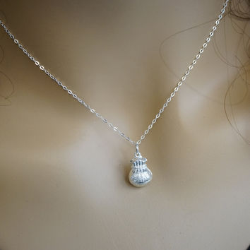Full Sterling Silver Mony Pouch Necklace Children Necklace Chiense Character