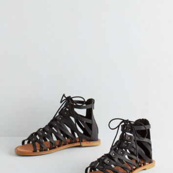 Boho Piece of the Athens Sandal in Black