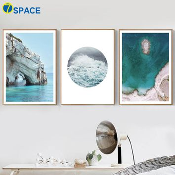Sea Beach Canvas Painting Pop Art Nordic Posters And Prints Wall Art Canvas Prints Landscape Wall Pictures For Living Room Decor