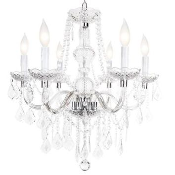 Hampton Bay Maria Theresa 6-Light Chrome Chandelier-C873CH06- at The Home Depot