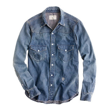 J.Crew Mens Chimala Denim Western Shirt