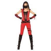 Women's Ninja Assassin 4pc Red Costume - S : Target