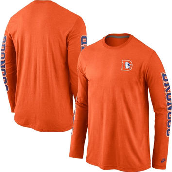 Denver Broncos Nike Rewind Long Sleeve T-Shirt – Orange