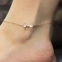 Elegant European Style Opal Bowknot  Anklet from perfectmall