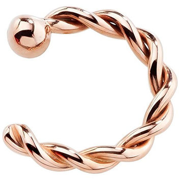 "20 Gauge 1/4"" 14K Rose Gold Twisted Nose Hoop"