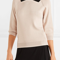 Totême - Two-tone ribbed-knit sweater