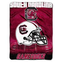 South Carolina Gamecocks NCAA Micro Raschel Blanket (Overtime Series) (80x60)