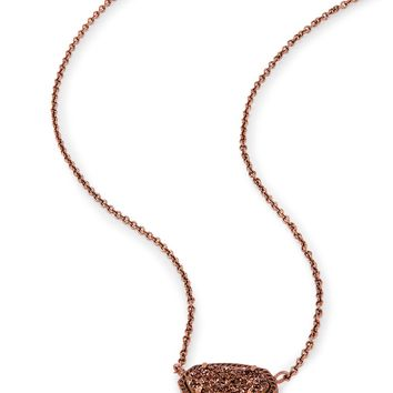 Elisa Pendant Necklace in Chocolate Drusy | Kendra Scott