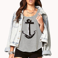 Nautical Sequined Anchor Top