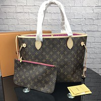 LV Tide brand female classic old flower shopping bag shoulder bag Messenger bag two-piece