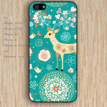 iPhone 5s 6 case watercolor deer Christmas iphone case,ipod case,samsung galaxy case available plastic rubber case waterproof B227