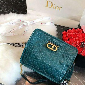 DIOR new rhombic female style cross-body shoulder bag