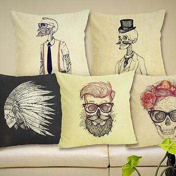 Abstract Head collection Pillow cases