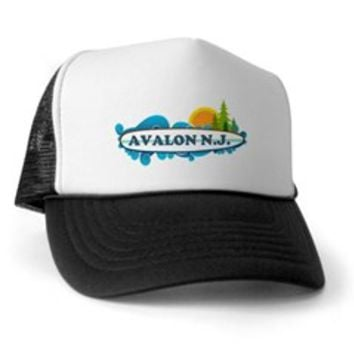 Avalon NJ - Surf Design Trucker Hat> Avalon NJ - Surf Design> Beach Tshirts.