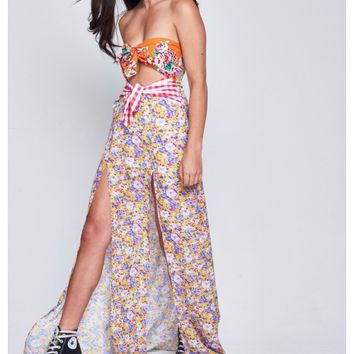 Double Knot Floral Maxi Dress - Jaded
