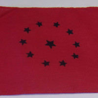 Small Red Historical Cloth Flag American