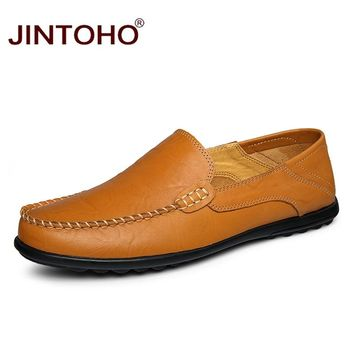 Fashion Casual Shoes Genuine Leather Flats Shoes Slip On Leather Men Cheap Men Loafers