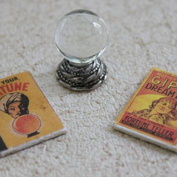 Miniature Crystal Ball With Fortune Telling Books by GreenGypsies