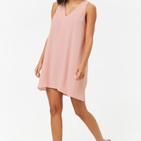 Cutout Trapeze Mini Dress