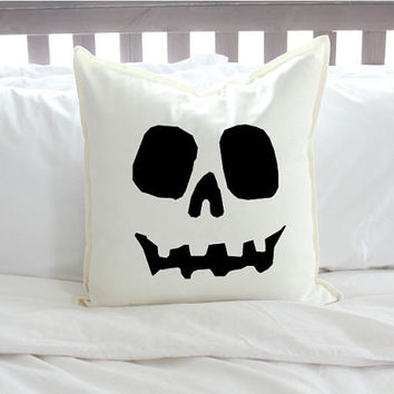 Halloween Skull Pillow Cover