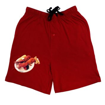 Lobster Plate Adult Lounge Shorts