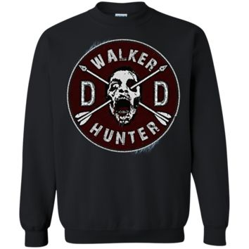 Walking Dead Daryl Dixon Wings and Walker Patch Two Sides G180 Gildan Crewneck Pullover Sweatshirt  8 oz.