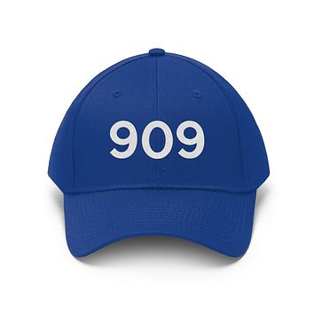 California 909 Area Code Embroidered Twill Hat