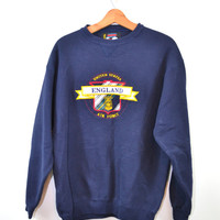 Vintage Sweatshirt Sweat shirts Sweatshirts Air Force Sweatshirt Air Force England Sweatshirt England Sweatshirt Blue Sweatshirt Size Large