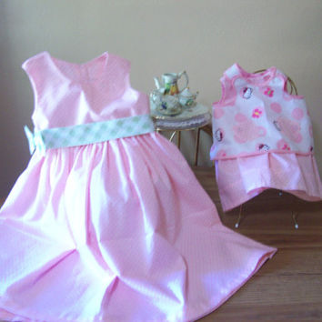 """Matching Birthday Sundresses for Girl and Doll...Girls Sizes 2T to 6x..American Girl Doll,22-20""""Baby Doll, Waldorf, Baby Alive,Bitty Baby"""